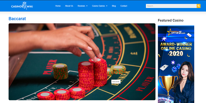 Baccarat in Onlinecasinoswiki